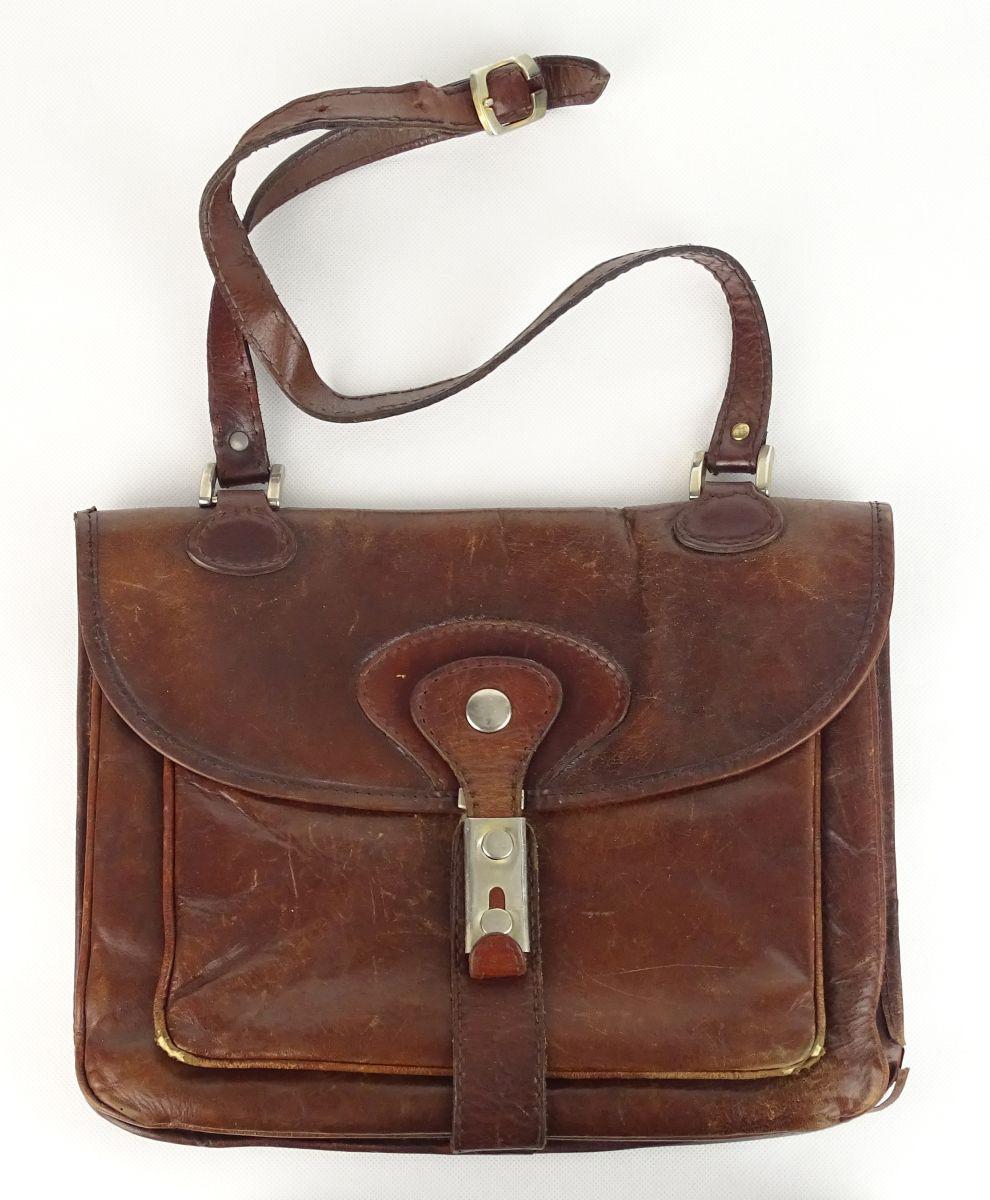 1155e260fd 0U942 Régi barna bőr női táska válltáska - 3300 Ft ...